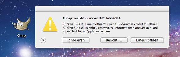 Die Fehlermeldung - (Bildbearbeitung, mac-os-x)