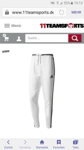 adidas jogginghose mit drei weissen streifen