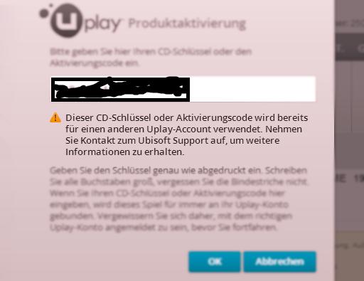 Fehlermeldung von UPlay - (PC, Games, Online-Shop)