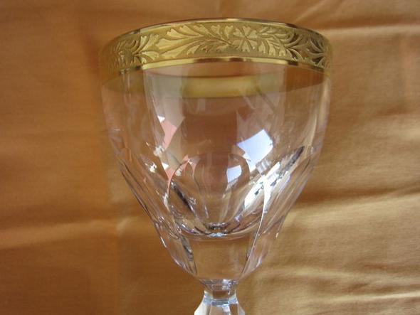 Gläser geschliffen mit Ätzgoldrand - (Antiquitäten, Glas und Kristall)