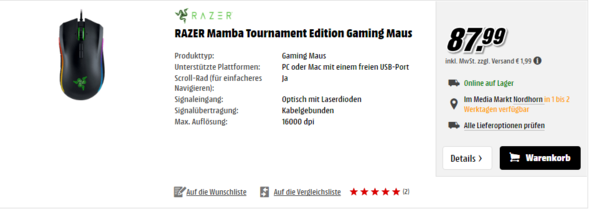 Im OnlineShop - (Gaming, Media Markt, Razer)