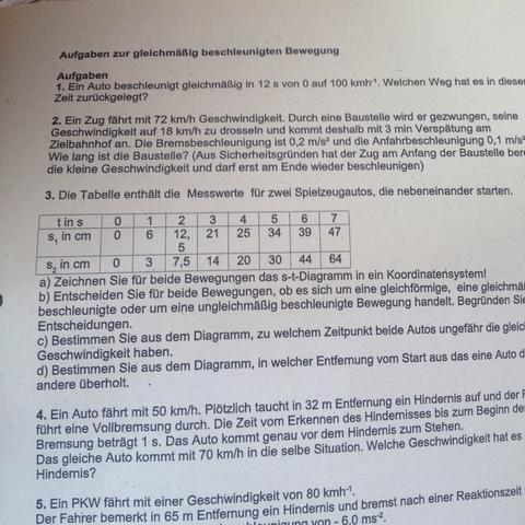 NUR Aufgabe 2 - (Schule, Arbeit, Physik)
