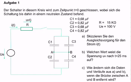 Gleichstrom, Kondensatoren Parallel o. Serie, Stromverlauf?