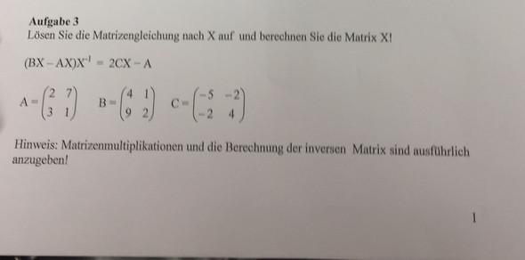 aufgäbe 3 - (Mathematik, Gleichungen)