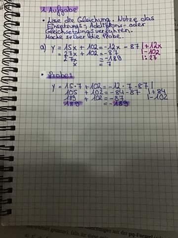 Gleichungen lösen Einsetzungs/Gleichsetzungs und Additionaverfahren?