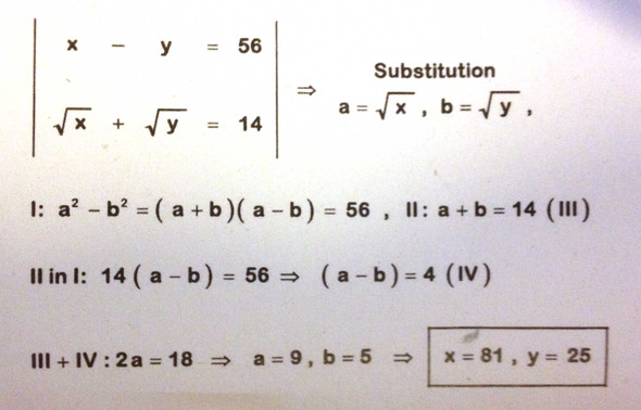 lösung - (Mathe, Gleichungssysteme)