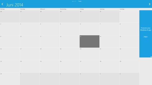 Screenshot von der geschilterten Situation - (PC, Windows 8, Google-Kalender)