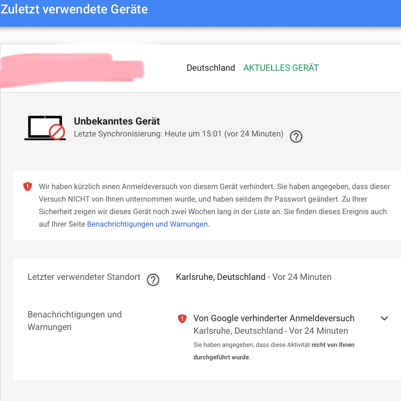 Gmail Login versuch? (Google)
