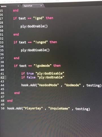 Gmod Lua Godmode change programmieren?