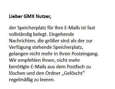GMX Emails nur noch auf meinem PC speichern statt bei GMX?