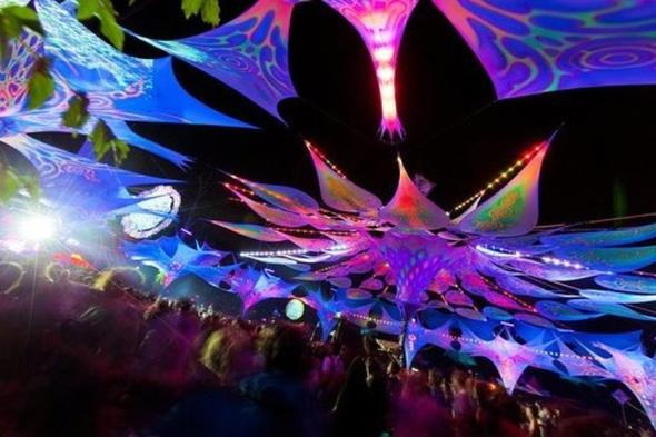 Goa-deko selbst machen (Party, Dekoration, Schwarzlicht)