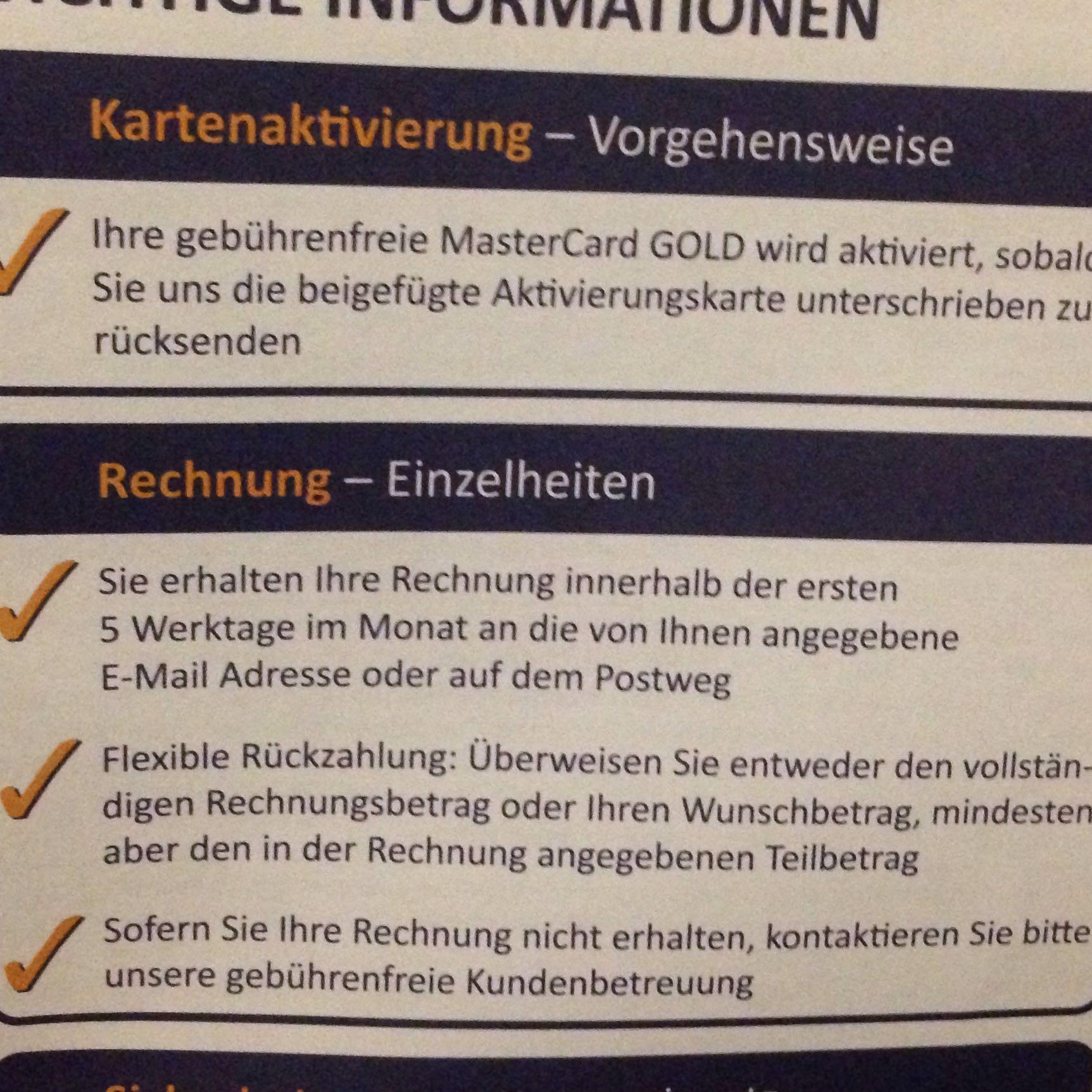 goldcard getmore mastercard kostenlos rechnung. Black Bedroom Furniture Sets. Home Design Ideas