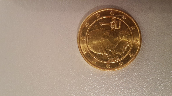 Goldfarbene 1 Euro Münze Gold Münzen