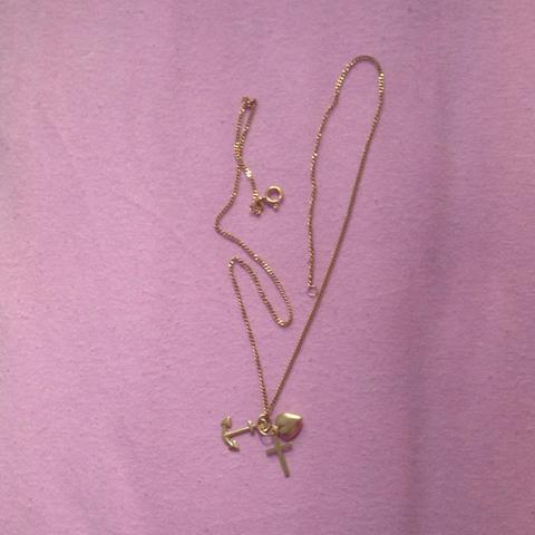 Goldkette mit kreuz Anker und Herz  - (verkaufen, Goldkette)