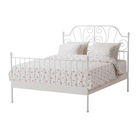 Bett weiß metall ikea  Goldspray für IKEA-Bett (basteln, Möbel, heimwerken)