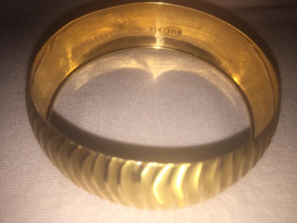 Goldwert 22 Karat 916er? (Gold, Armreif)