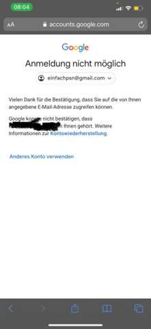 Google Account einloggen?