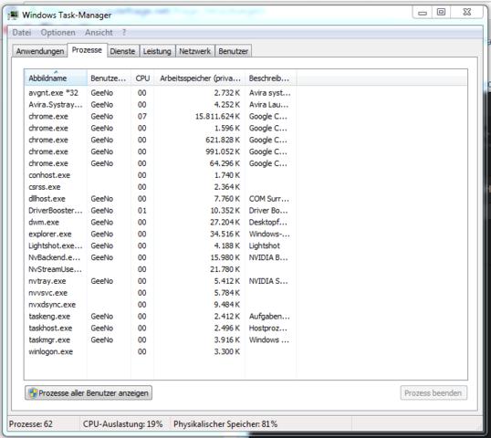 BILD 2 - (RAM, Arbeitsspeicher, Google Chrome)