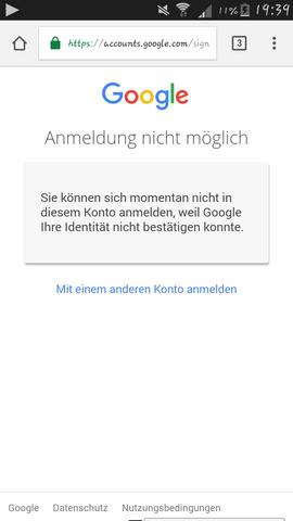 Hier diese Nachricht  - (Technik, Google, Google konto reset)