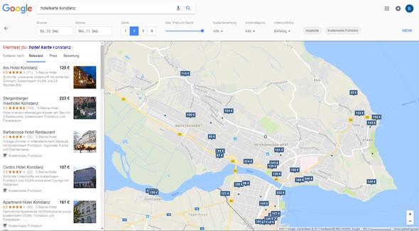 Hotels - Google Maps - (Computer, html, Webseite)