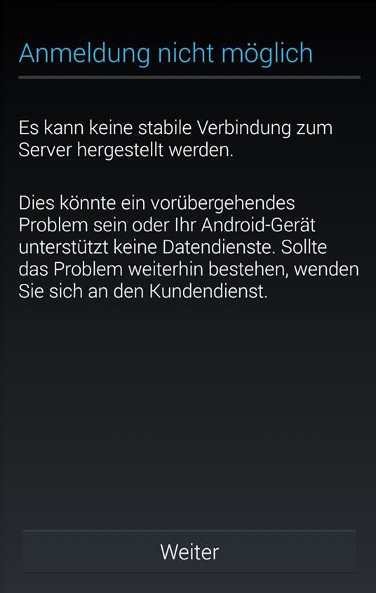 Anmeldung Google Play Store Nicht Möglich