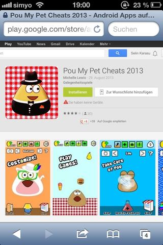 Pou - (Computer, Google Play Store, Google playstorapps)