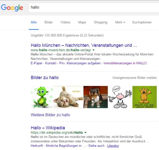 google normal - (Internet, Google, Browser)