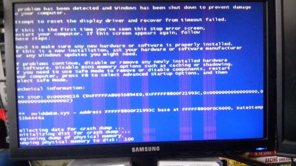 Fehlermeldung - (PC, Blaue Streifen)