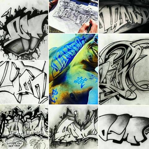 Kann Man Graffiti Tattoo Design Verschenken