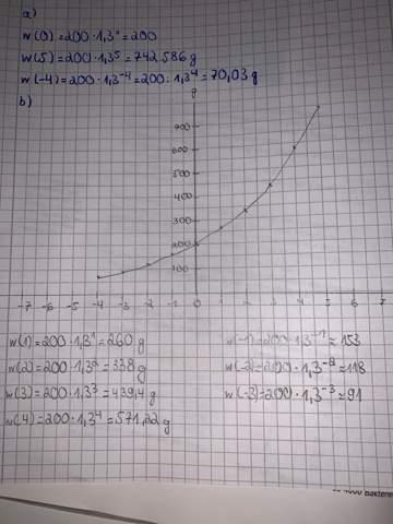 Graph Exponentielles Wachstum richtig gezeichnet?