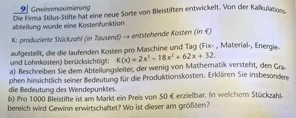 Graphische Bedeutung für Produktionskosten?