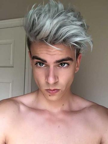 Lange graue haare manner