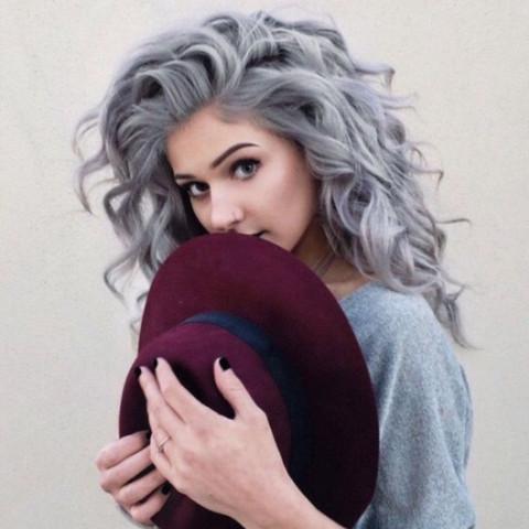 Graue Haarfarbe - (Haarfarbe, färben, Marke)