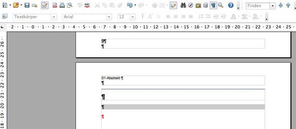 so sieht die Stelle aus die ich nicht entfernen/überschreiben kann - (OpenOffice, Schreibschutz aufheben, diplomarbeit formatvorlage)