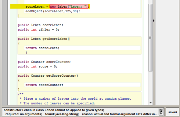 Fehler - (Computer, programmieren, Java)