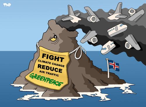 Greenpeace Karrikatur - (Englisch, Referat, Analyse)