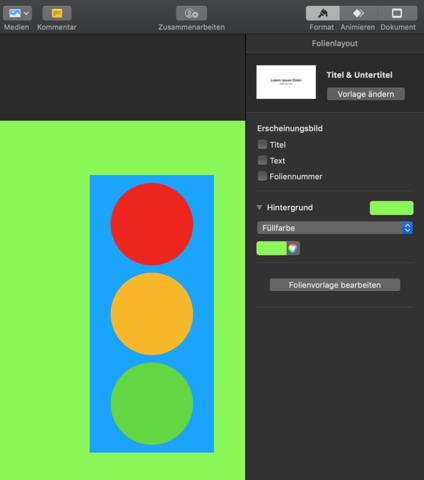 Greenscreen mit Keynote für Finalcut erstellen. Aber mit grüner Einblendung. Wie kann ich nur den Hintergrund entfernen?