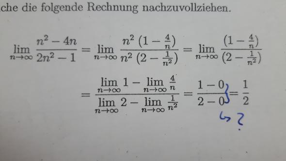 Wie kommt das zustande? - (Schule, Mathematik, Grenzwert)