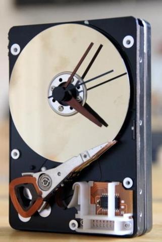 So soll das ausschauen - (Festplatte, basteln, Uhr)