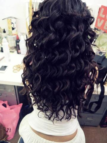 Große Schöne Locken Wie Mädchen Haare Beauty