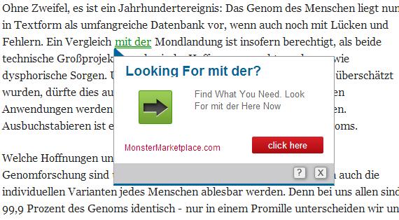Grün unterstrichen?! - (Google Chrome, Add-on, grün unterstrichen)