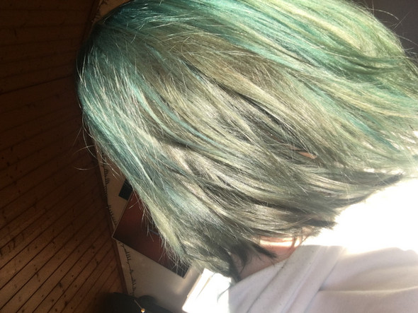Grune Haare Mit Directions Blau Farben Haare Farben Blondieren Hair