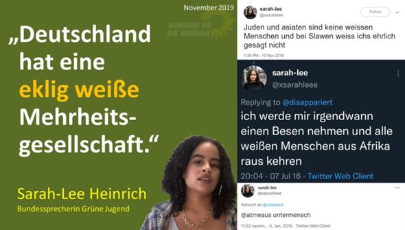 Grünen-90-Bundesprecherin: Leben in einer ekelhaften weißen Mehrheitsgesellschaft?
