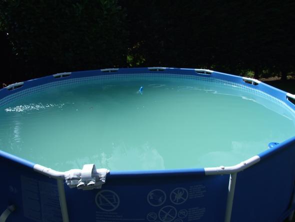 gr nes wasser im pool alles versucht und noch nicht
