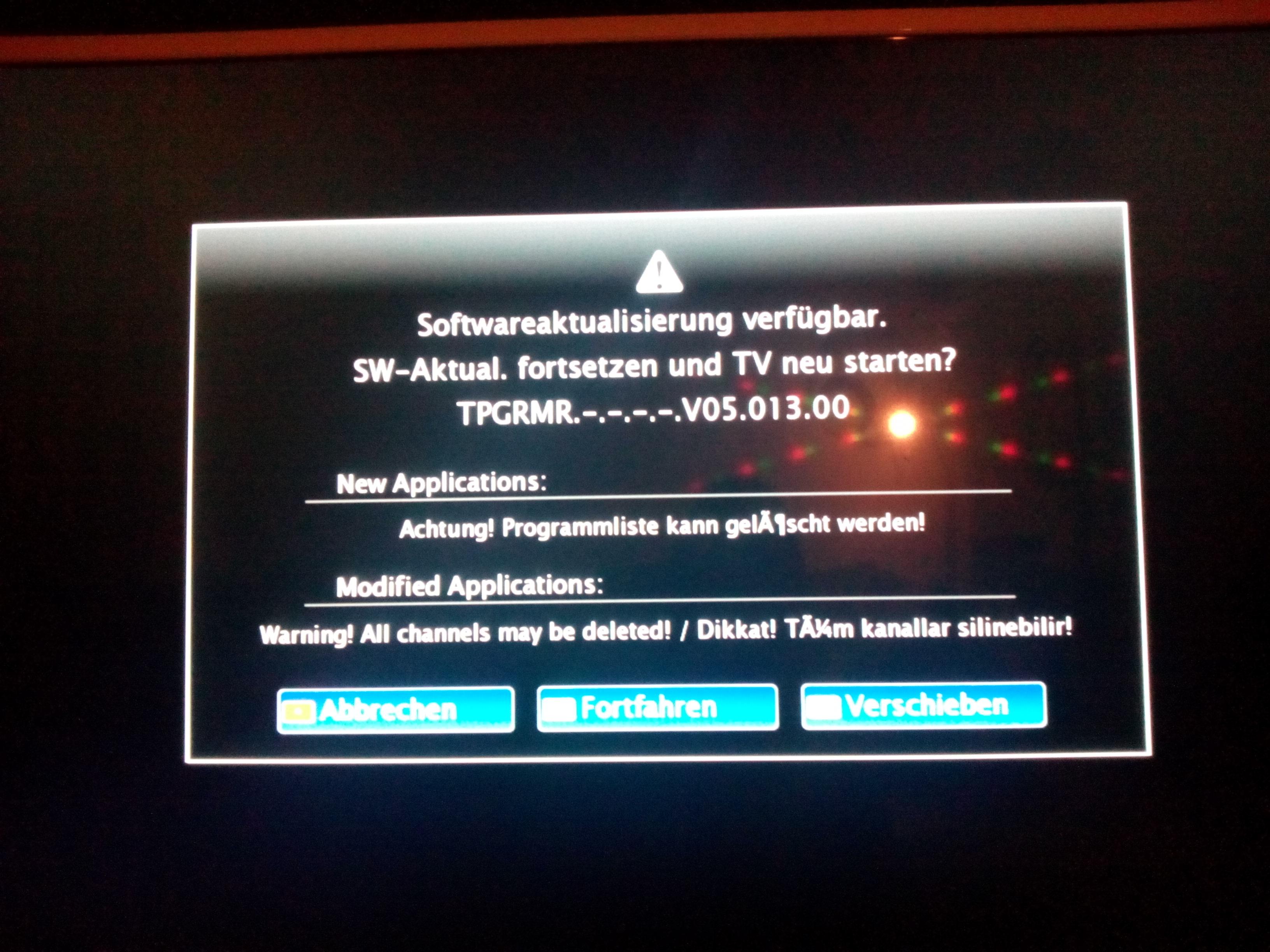 Grundig TV Software Aktualisierung schlägt immer fehl? (software ...