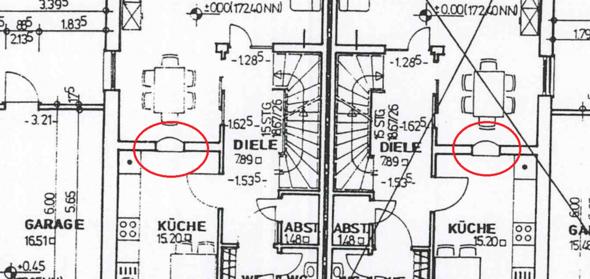 Auszug aus dem Grundriss - (Architektur, Grundriss)