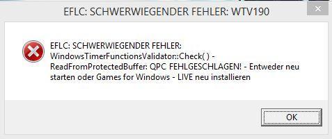 Fehlermeldung nach Spielstart - (Computer, Windows, Windows 8)