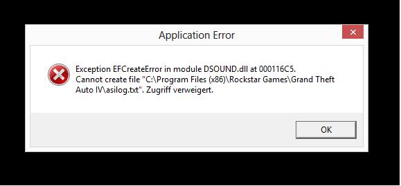 dsound.dll Fehler - (GTA 4, Trainer)