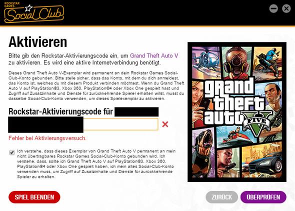 Das ist die Fehlermeldung - (PC, GTA V, GTA)