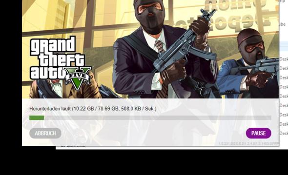 GTA 5 Download über social Club downloadet bei einer 100k Leitung nur 400kb/s?